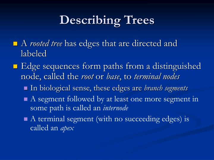 Describing Trees