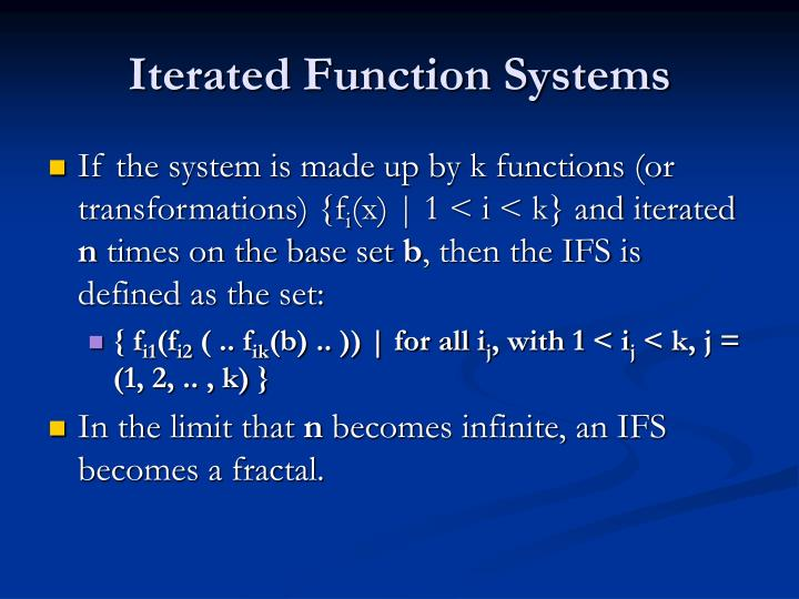Iterated Function Systems