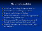 my tree simulator