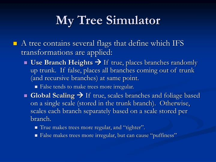My Tree Simulator