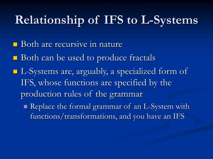 Relationship of IFS to L-Systems