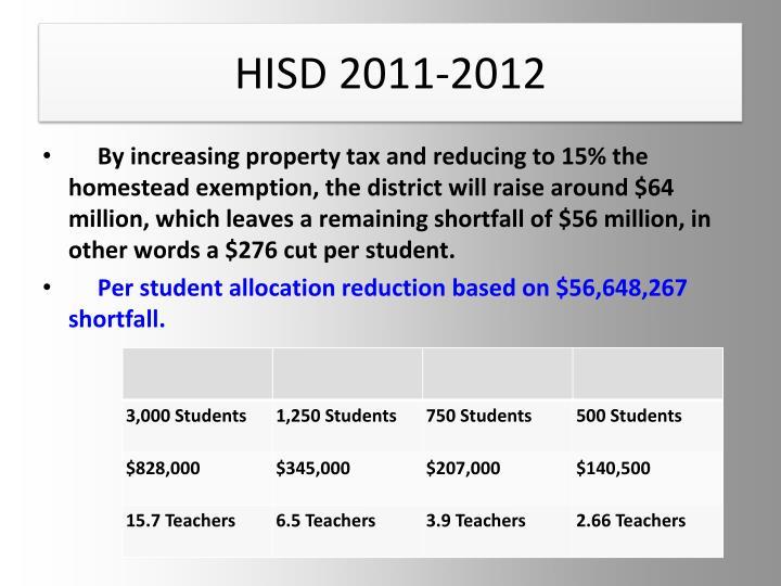 HISD 2011-2012