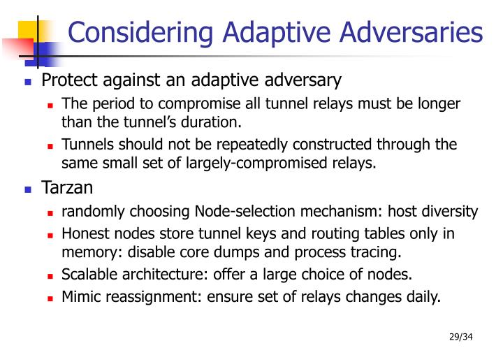 Considering Adaptive Adversaries