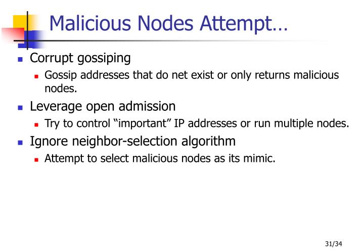 Malicious Nodes Attempt…