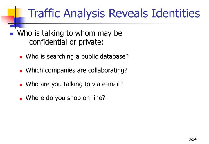 Traffic Analysis Reveals Identities