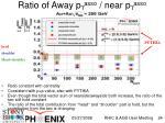 ratio of away p t asso near p t asso