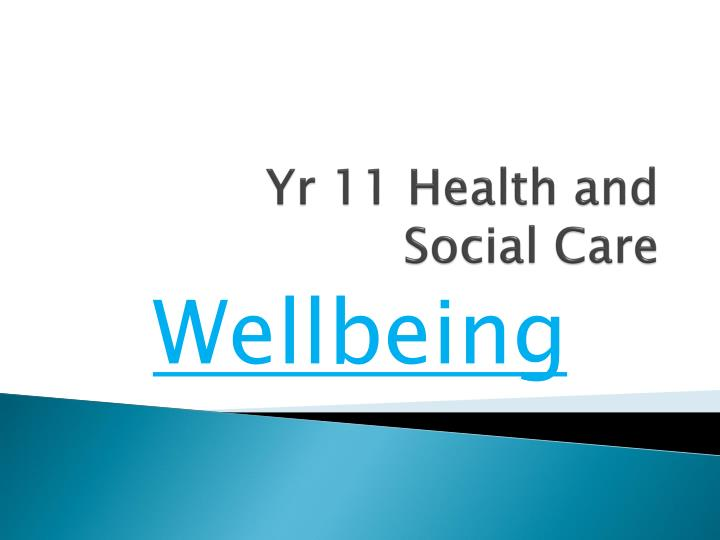 Yr 11 health and social care