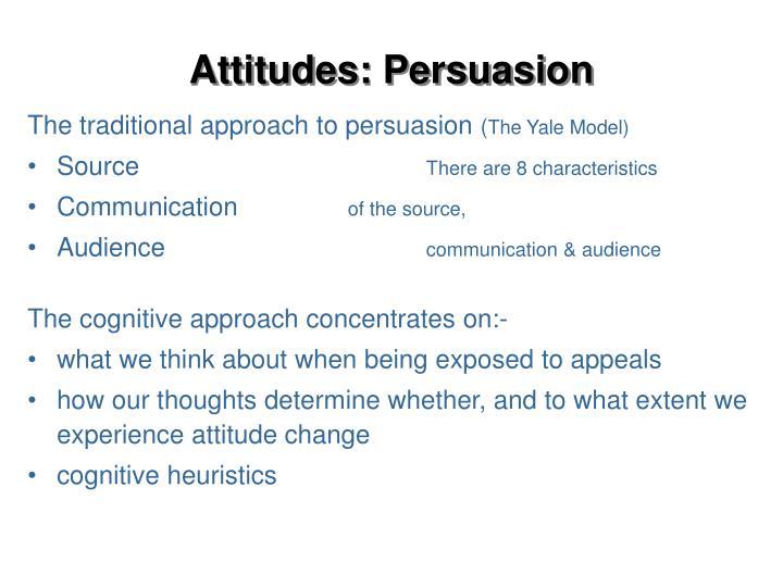 Attitudes: Persuasion
