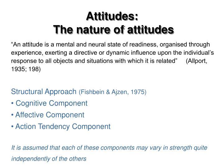 Attitudes: