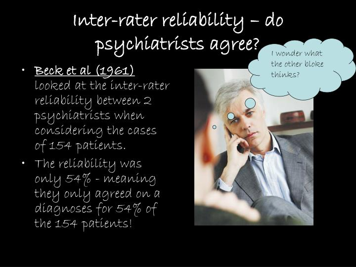 Inter-rater reliability – do psychiatrists agree?
