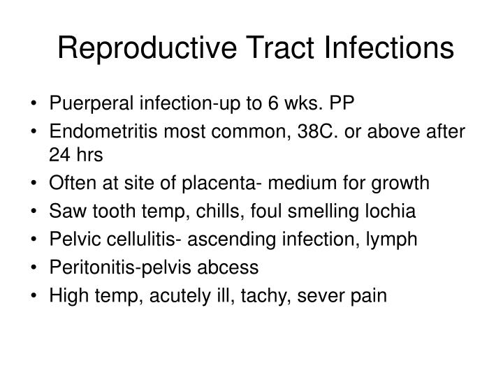 Reproductive Tract Infections
