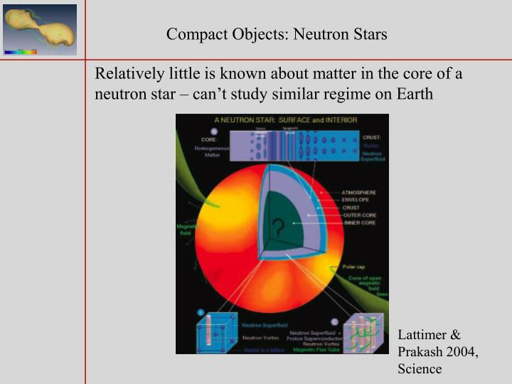 Compact Objects: Neutron Stars