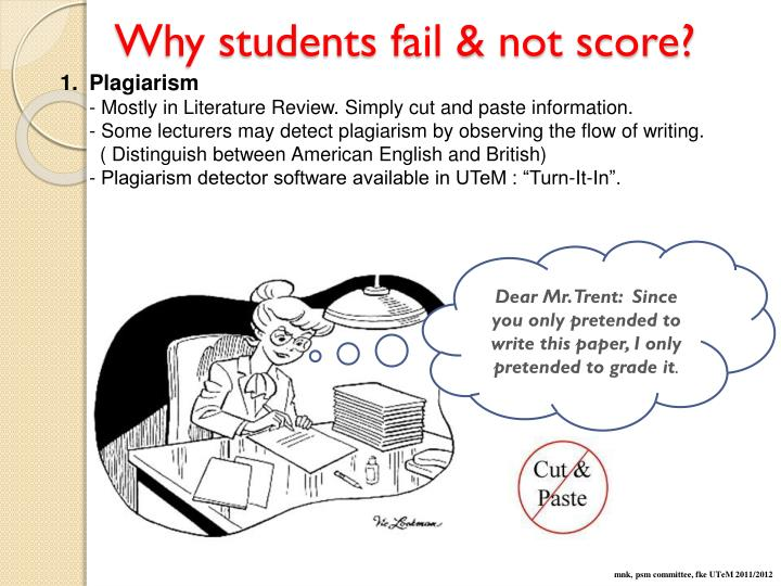 Why students fail & not score?