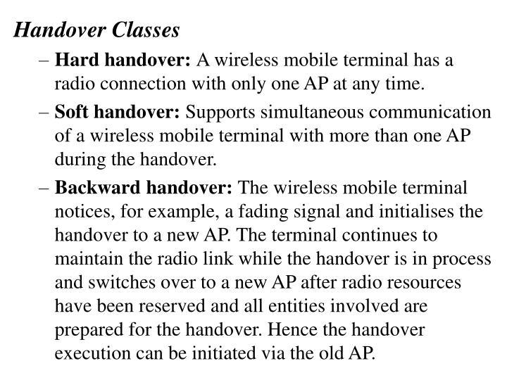 Handover Classes