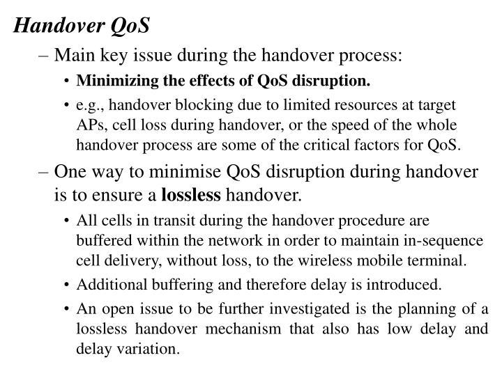 Handover QoS