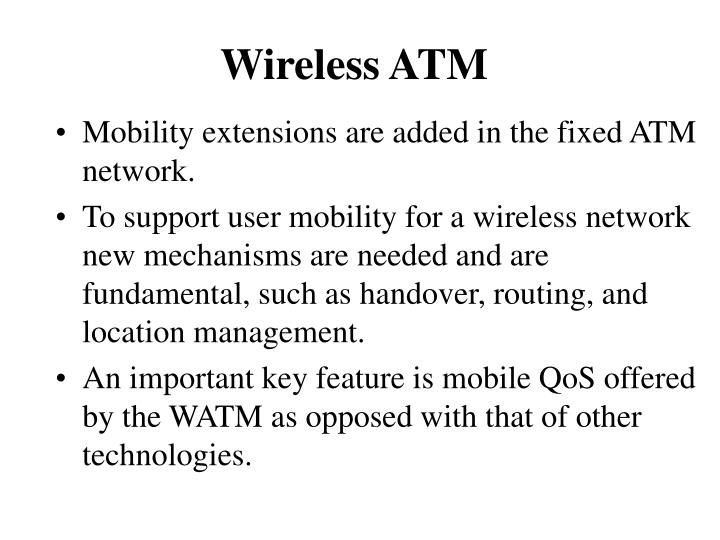 Wireless atm