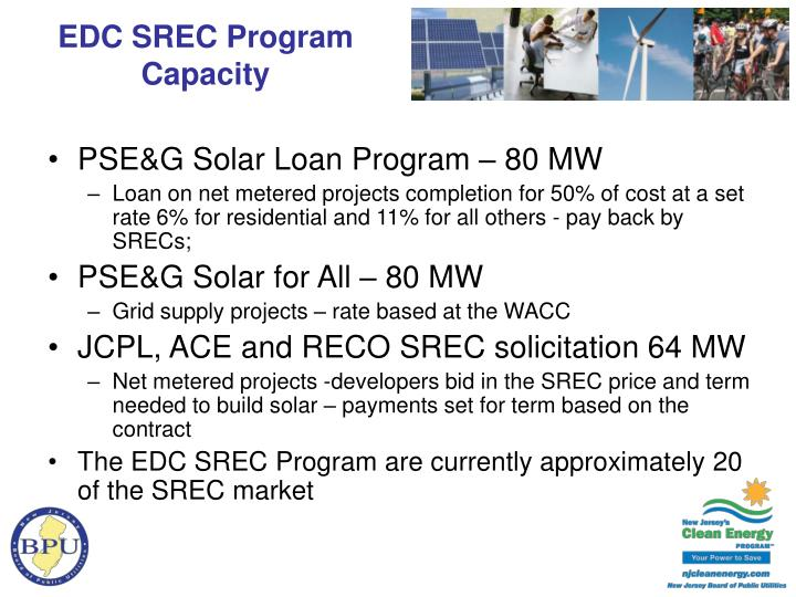 EDC SREC Program Capacity