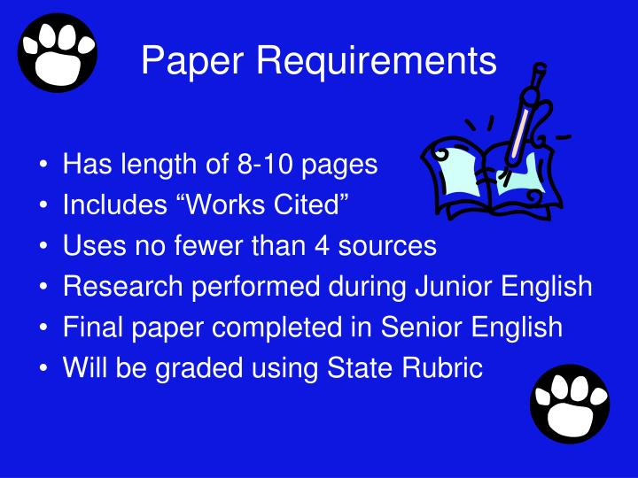 Paper Requirements
