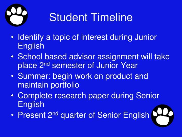 Student Timeline