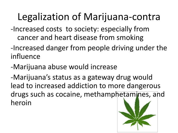 Legalization of Marijuana-contra