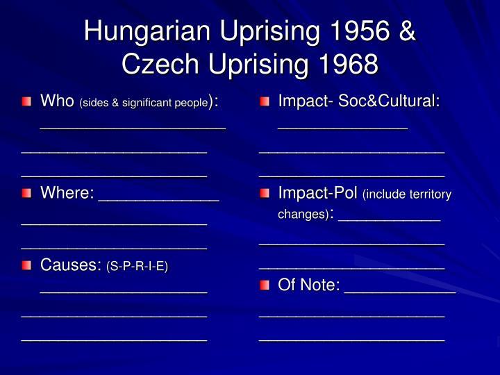 Hungarian Uprising 1956 &