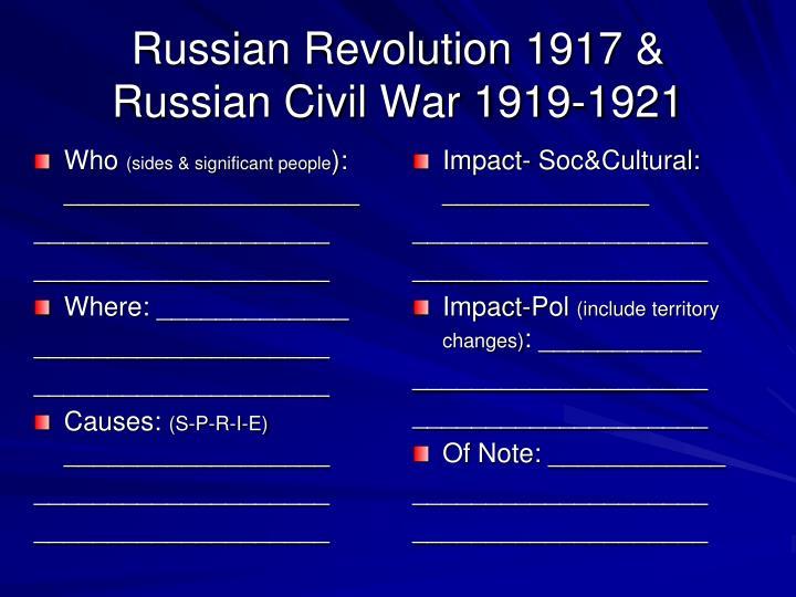 Russian Revolution 1917 &