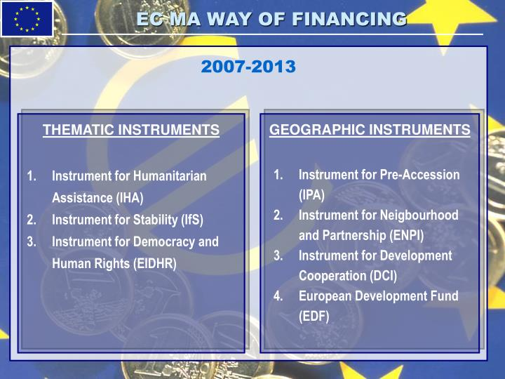 EC MA WAY OF FINANCING