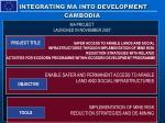 integrating ma into development cambodia