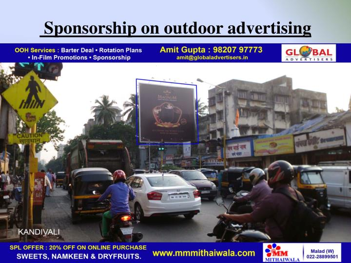 Sponsorship on outdoor advertising