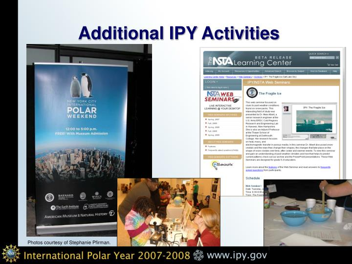 Additional IPY Activities