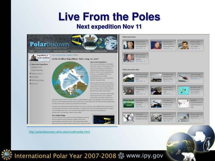 Live From the Poles