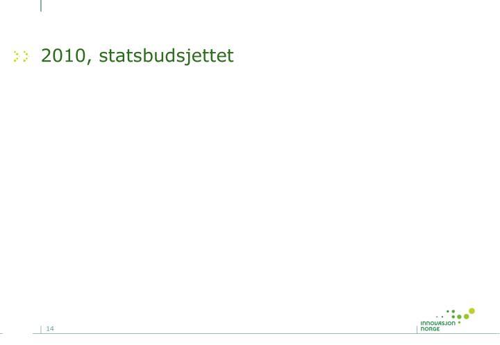 2010, statsbudsjettet