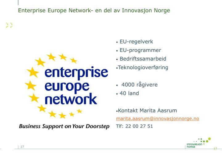 Enterprise Europe Network- en del av Innovasjon Norge