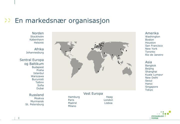 En markedsnær organisasjon