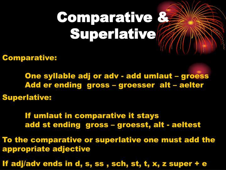 Comparative &