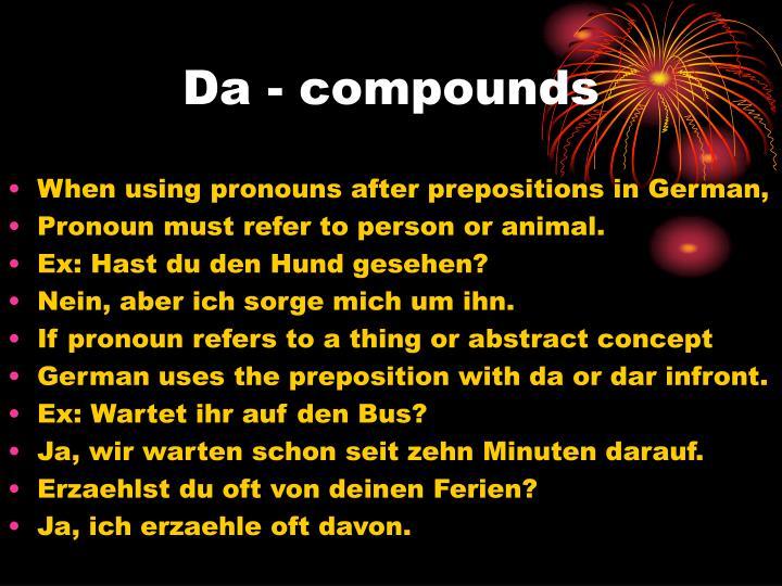 Da - compounds