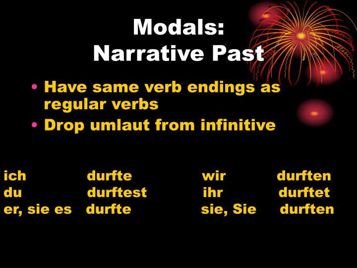 Modals: