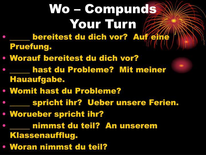 Wo – Compunds