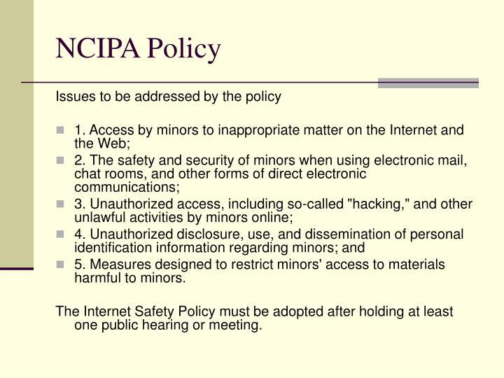 NCIPA Policy