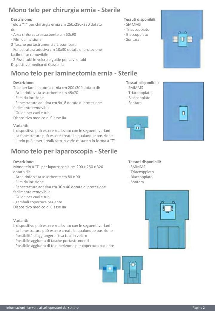Mono telo per chirurgia ernia - Sterile