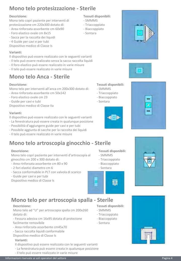 Mono telo protesizzazione - Sterile