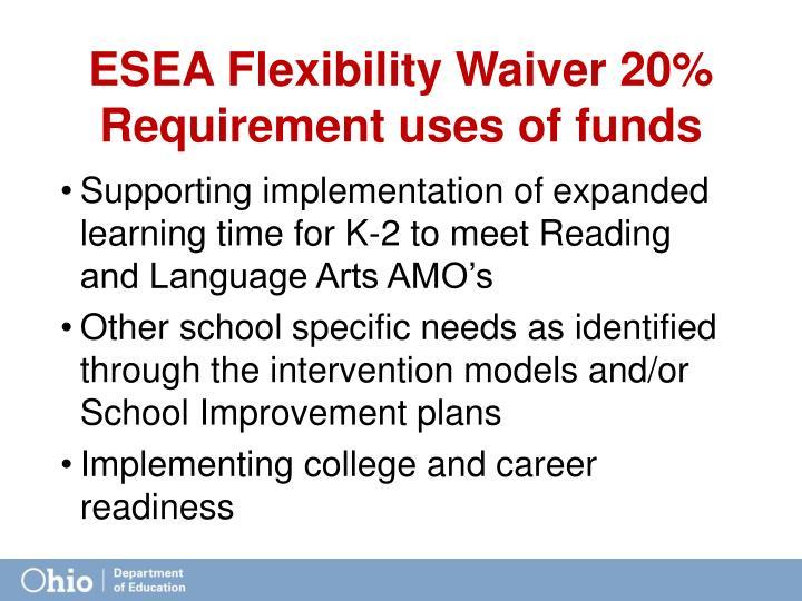 ESEA Flexibility Waiver 20%