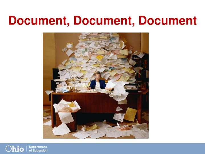 Document, Document, Document