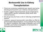 bortezomib use in kidney transplantation