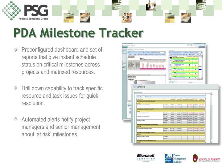 PDA Milestone Tracker