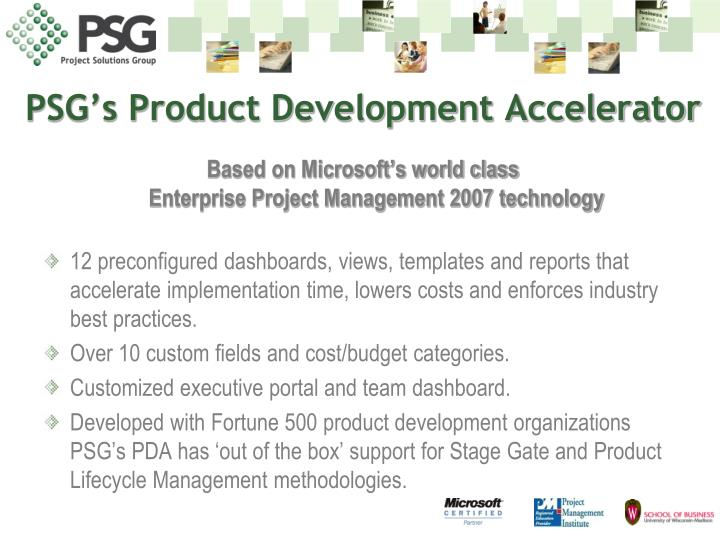 PSG's Product Development Accelerator