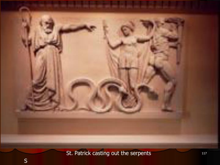 St. Patrick casting out the serpents
