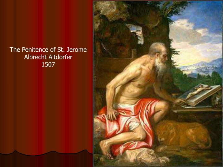 The Penitence of St. Jerome