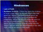 hindrances