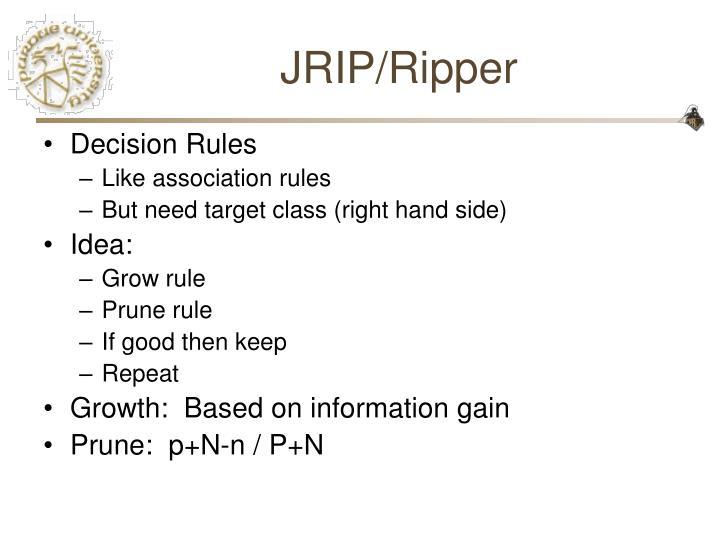 JRIP/Ripper